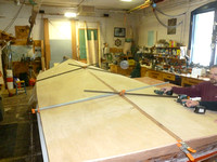 "The ""flatter"" portions of the hull get larger sheets of inner ply"