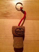 Champagne Cork Floating Keychain